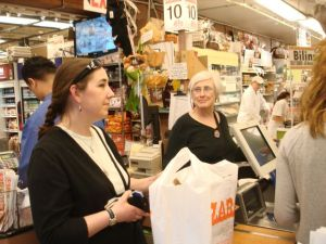 Leaving Zabar's With Bags of Goodies